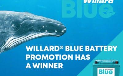 The Willard® BLUE Battery Promotion Has a Winner!