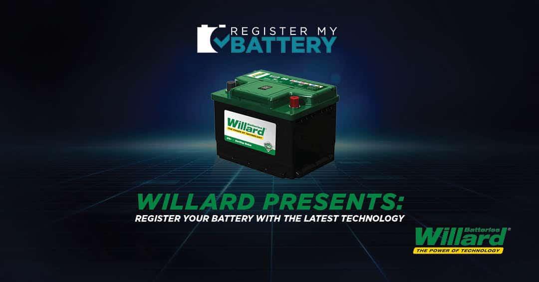 Willard Presents: The Groundbreaking Register My Battery Platform